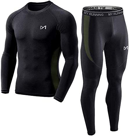 Men s Base Layer Cool Dry Long Sleeve Compression Set Sport Long Johns Gym Fitness Running Underwear product image