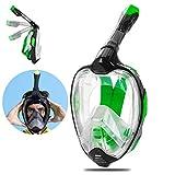 Snorkel - Máscara de 180 ° de visión panorámica para adultos y niños, buceada en apnea mascarilla fa...