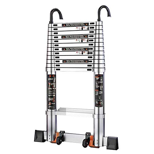 GAXQFEI Aluminium Multi-Purpose Ladder, Suitable for Removable Hook Ladder in Industrial Household, Capacity 330 Lb Stair Stool (Colour: 4.6 M (15 Ft)),5.3m(17.3ft)