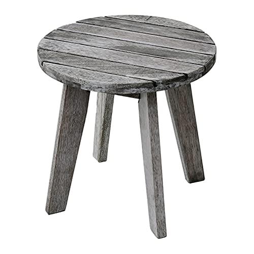 山善(YAMAZEN) ガーデンサイドテーブル 木製 MFET-45(WHW)