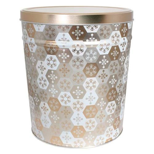 Great Deal! Cornucopia Popcorn Vegan Snowflake Tin