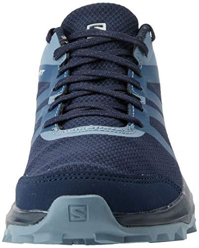 Salomon Trailster 2 GTX Zapatillas Impermeables Trail Running Mujer, Azul (Navy Blazer/Sargasso Sea/FLINT STON), 45 1/3 EU