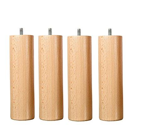 Wood Select Fuß für Bett, 25 cm, mehrere Befestigungsarten