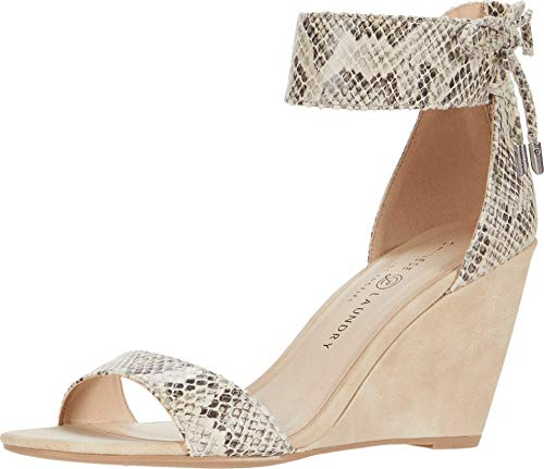 Chinese Laundry Women's Camomile Wedge Sandal, Beige, 7.5