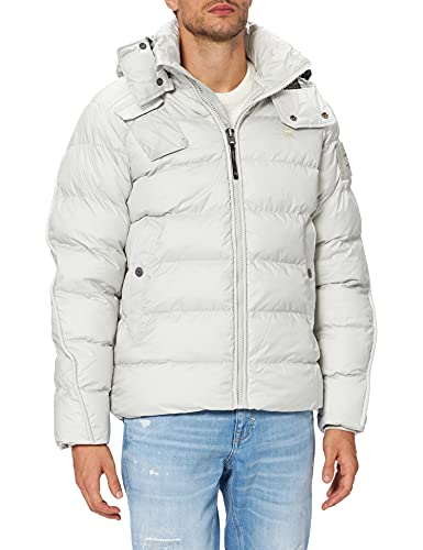 G-STAR RAW G-Whistler Padded Hooded Chaqueta, Blue (Oyster Blue B958-C628), M de los Hombres