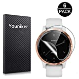 Youniker 6 Pack for Garmin Vivoactive 4S Screen Protector Film for Garmin Vivoactive 4S GPS Smartwatch Screen...