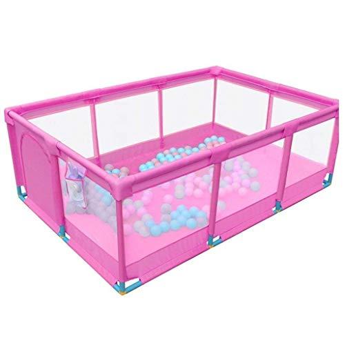 ZTMN Clôture pour Enfants Indoor Home Baby Game Guardrail Baby Safety Toddler Crawling Mat Fence QYSZYG (Couleur: Bleu), Rose (Couleur: Rose)