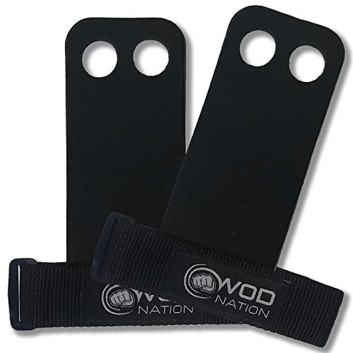 WOD Nation Leather Gymnastics Hand Grips by Perfect for Pull-up Training,...