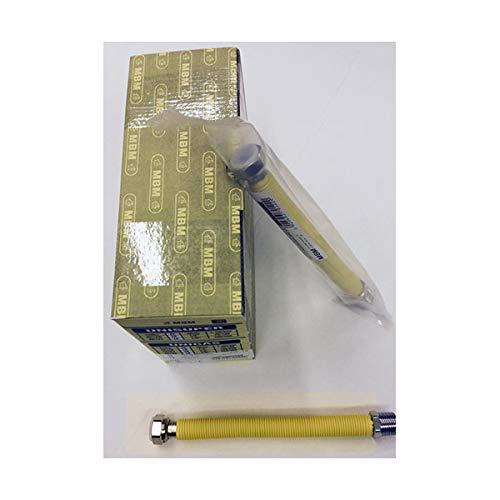 extensible flexible Gasleitung INOX 1/2 '' 200/400 mm. M / F rostfreie gelb UNI 11353