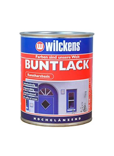 Buntlack hochglänzend Feuerrot - RAL 3000 375 ml Lack Kunstharz Wilckens ca. 4,5 m² Innen Außen wetterbeständig Farblack Lackfarbe