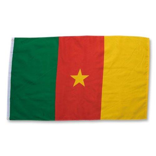 Drapeau du Cameroun 0,9 x 1,5 m en polyester Superknit Drapeau des supporters de la coupe du monde