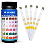 JR.WHITE Pool Test Strips 100 Count, Pool Test Strips Aqua Chemical Check Swimming Pool Test Strips for Pool and Spa Hot Tub Testing 6Ways