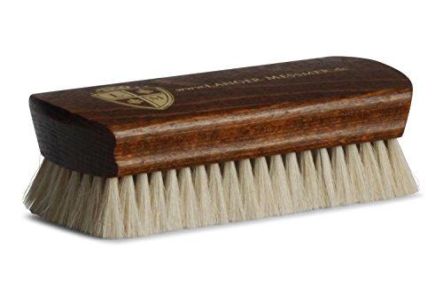 Langer & Messmer Schuhbürste | Polierbürste aus 100% Ziegenhaar für besonders feinen Glanz bei der Schuhpflege