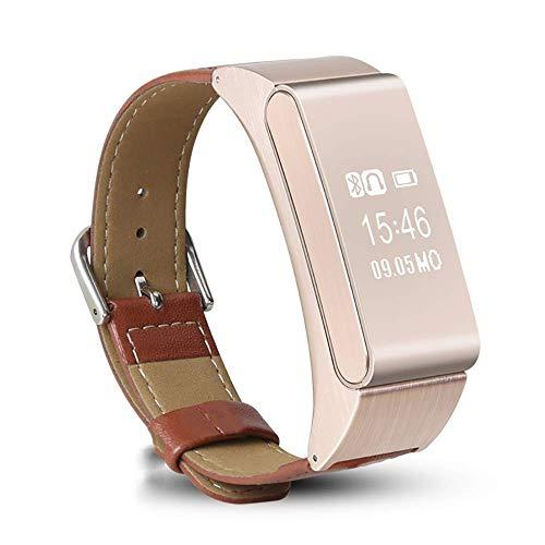 Mygsn Watch Fitness Tracker Watch - Multifunktionale Herren Business Smart Armband Bluetooth Headset Kombinationsanruf Herren- und Damenuhr Handschlaufe Watch (Color : E)