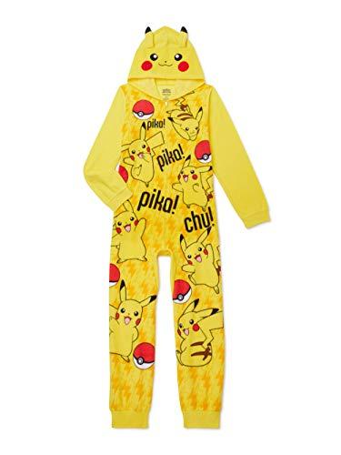 Pokemon Pikachu Boys Hooded Blanket Sleeper (X-Small 4-5) Yellow