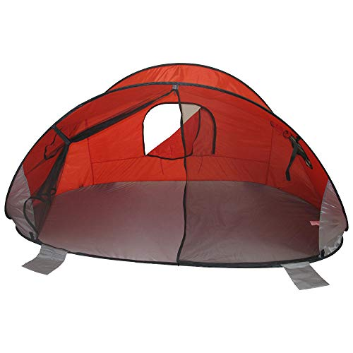 Redmon For Kids Beach Baby Family Size Pop-Up Shade Dome, Red, 57' d x 100' w x 47' h