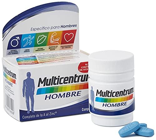 Multicentrum Hombre Complemento Alimenticio Multivitaminas con 13 Vitaminas y 11 Minerales, Sin Gluten, 30 Comprimidos