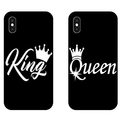 EREMITI JEWELS Cover per Coppia Personalizzabili King And Queen Idea Regalo per fidanzati (Personalizza iPhone)