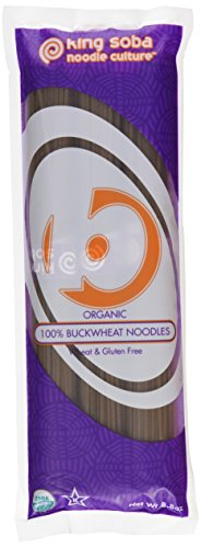 King Soba Gluten Free, Organic 100% Buckwheat Pasta Noodles 8.8oz - 3 Servings Per Pack