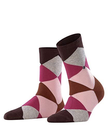 Burlington Damen Bonnie W So Socken, Blickdicht, Rot (Brunette 8976), 36-41