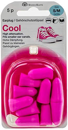 Swedsafe Cool Ohrstöpsel Damen 33dB - Gehörschutz Konzert Festival mit hohem Dämmwert Pink