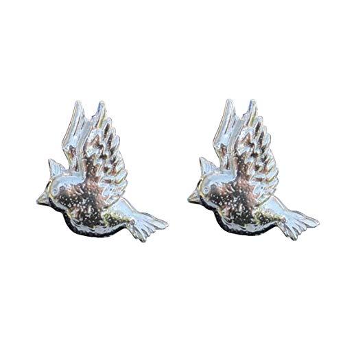 "Boutons de Manchette ""Oiseau Hoopoe"" en Etain Fin - Fabrication Française"