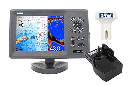 Buy Bargain ONWA KCombo-7: 7 GPS ChartPlotter with FishFinder (KCombo-7 with Transom Mount Transduc...