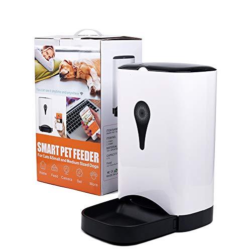 Automatischer Futterspender WiFi Futterautomat Timing, APP Fernbedienung, programmierbar, Smart Feed für Hund und Katze