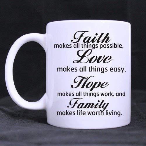NA Taza de café 11 oz-para Novias/Novios ama Las Citas La fe...