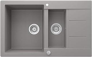 Bergström GranitspüleTesa inkl. Siphon Küchenspüle Einbauspüle 800x500mm, Beton