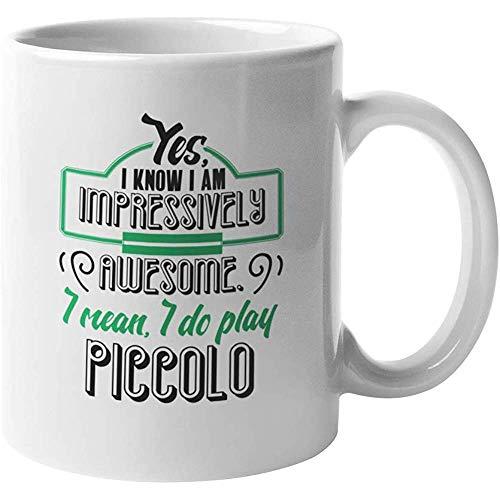 Porseleinen mok Indrukwekkend Piccolo spelen. Koffie Thee Cadeau Mok voor Piccolo Spelers Keramische Mok Koffiemok Mok Porselein Cup Porselein Mok Cup 110z