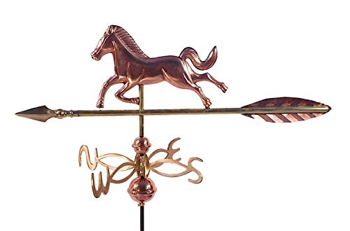 Dalvento 401C Wetterfahne Pferd aus reinem Kupfer Directionals und Kugeln, klein