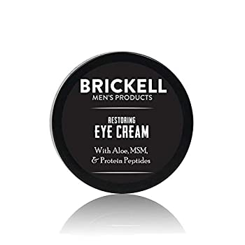 Brickell Men s Restoring Eye Cream for Men Natural and Organic Anti Aging Eye Balm To Reduce Puffiness Wrinkles Dark Circles Crows Feet and Under Eye Bags .5 Ounce Unscented