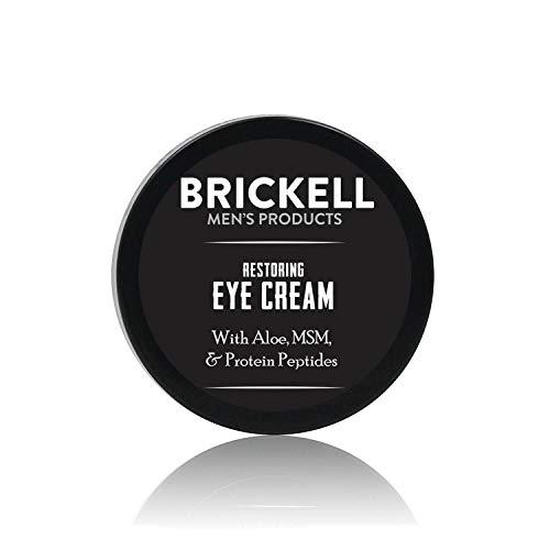 Brickell Men's Restoring Eye Cream - Natürliche und organische Anti Aging Augencreme - Augencreme gegen Falten und Augenringe - Reduziert Tränensäcke & Augen Schwellungen - 15 ml - Unparfümiert