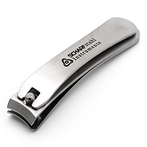 SCHARF STAHL® Nagelknipser Fußnagelknipser Nagelschneider Knipser groß für Fußnägel, Zehennagel Knipser Edelstahl & Massiv für Männer/Herren & Frauen/Damen, Nagelzwicker Nagelzange