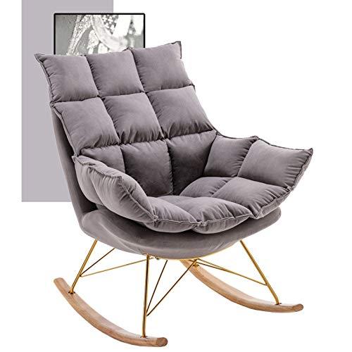 YHNMK Silla Mecedora Tapizada, en Tela Sillón Relax De Salón Butaca Mecedora de Dormitorio Moderna, Sillón Tapizado Extraíble