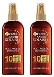 Garnier Ambre Solaire Huile Ambrée Protectrice SPF10 150 ml - Lot de 2