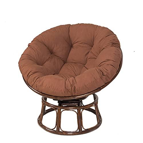 ZJHTK Cojín de mimbre redondo para colgar en la silla, cojín de asiento de balancín, cojín de mimbre suave, para colgar silla, nido, felpudo suave, marrón