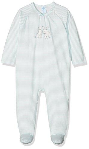 Sanetta Sanetta Baby-Mädchen 221377 Schlafstrampler, Blau (Ice Crystal 5539), 80