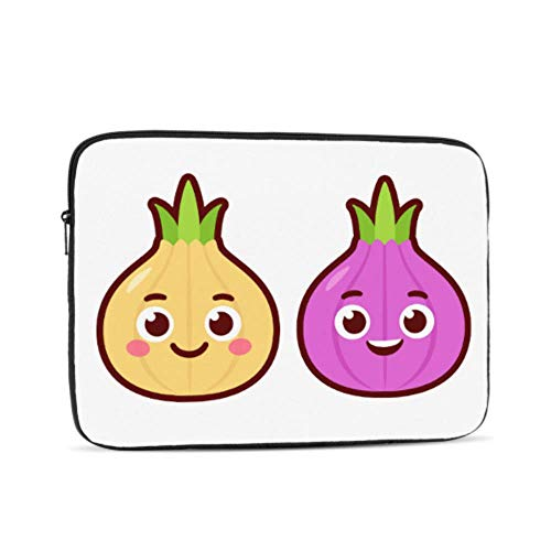 Case Macbook Air 13 Cartoon Smiling Onion Vegetables Macbook Pro 2016 Case Multi-Color & Size Choices10/12/13/15/17 Inch Computer Tablet Briefcase Carrying Bag