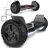 MARKBOARD 8,5 Pouces Hoverboards avec Haut-Parleur Bluetooth, Scooter électrique Intelligent, Scooter à équilibrage Automatique Tout-Terrain Double Moteur Puissant
