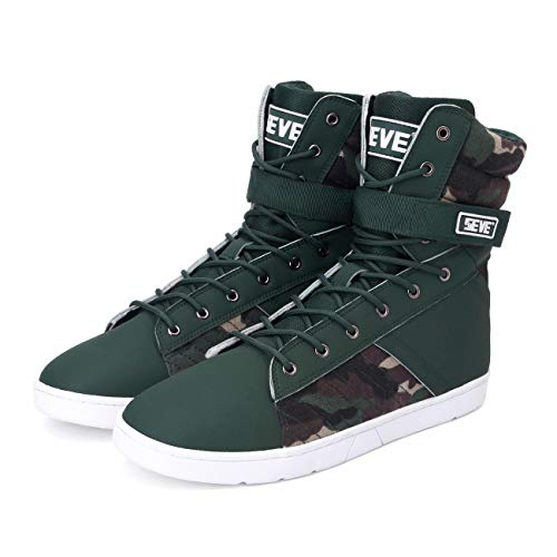 SEVE Men's High Top Weightlifting Shoes Workout Shoes Hardcore Tactical Trainers Ultimate Leg Day Sneakers 1 Year Warranty