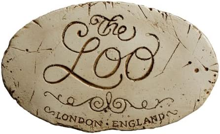 Piazza Pisano Loo Wall Decor lowest price Bathroom Plaque for Max 60% OFF