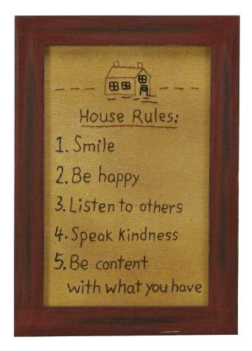 stitcheries par Kathy Panneau – House Rules