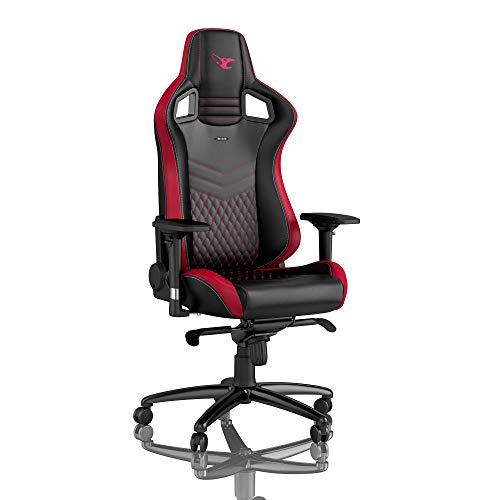 noblechairs Epic Gaming Stuhl - Bürostuhl - Schreibtischstuhl - PU-Kunstleder - Inklusive Kissen - Mousesports Edition - Schwarz/Rot