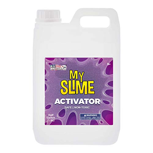 My Slime Activator Solution Half Gallon (64 Ounce) Kit - Make Your Own Slime, Just Add Glue - Kid Safe, Non-Toxic - Replaces Borax, Baking Soda, Contact Lens Solution - Activating PVA School Glue