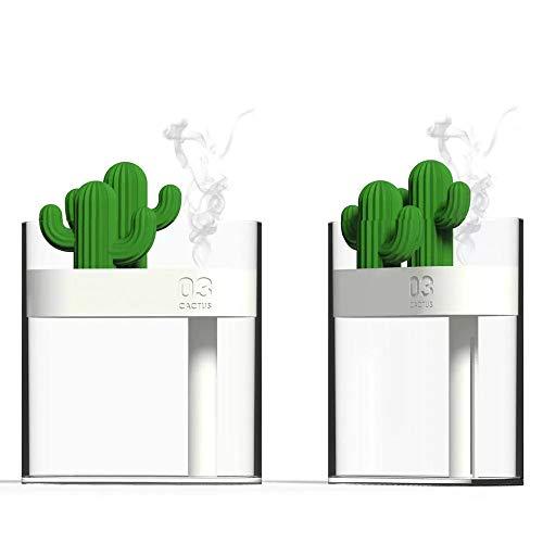 Duidelijke Cactus Ultrasone Luchtbevochtiger 160ml Kleur Licht Usb Luchtreiniger Anion Mist Maker Water Verstuiver