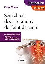 Sémiologie des altérations de l'état de santé de Pierre Nevers
