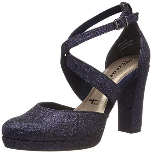 Tamaris Damen 1-1-24406-22 872 Slipper Blau (Navy Glam 872), 41 EU