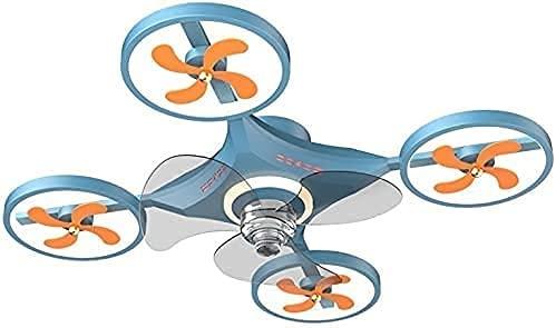 WDSZXH Ventilador de techo Lámpara de niño con viento ajustable 6 Velocidad y atenuación y ultra tranquilo, UAV Vehículo LED LED Drone Fan Reversible Ventilador Avión de Helicóptero L60 x W60 Decoraci